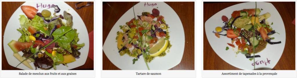 Les belles assiettes d'Hugo