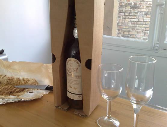 L'une des bouteilles réceptionnée avec un emballage très fiable
