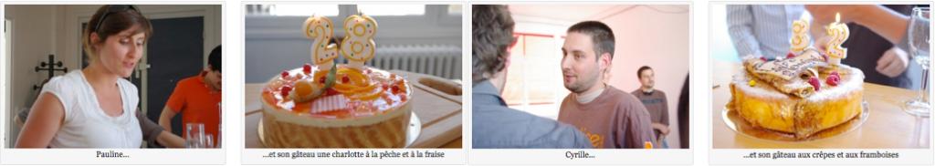 Pauline, Cyrille et leurs gâteaux respectifs